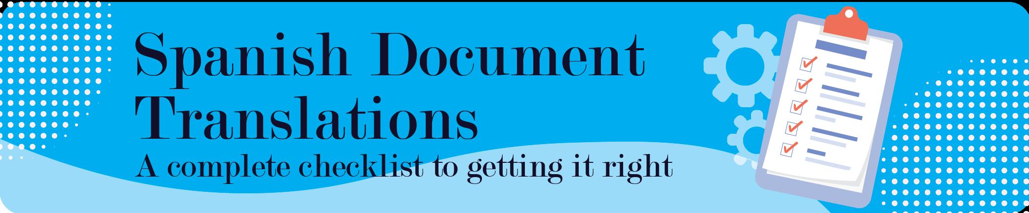spanish document translations
